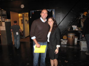 My team and Oprah's worked closely together for weeks and finally got to meet in-person at the taping.  Brad Opperman, one of the Oprah producers, and Andrea DiPasquale, AVP Marketing for MSLO.