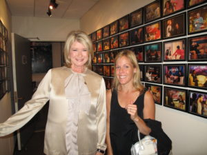Here I am with Annie, my wardrobe stylist, in the hallway outside my greenroom - The walls are lined with photos of Oprah and her guests.