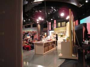 A view of the set and audience - Oprah and I were getting ready for another segment.  We had a lot of fun and the audience was fantastic.