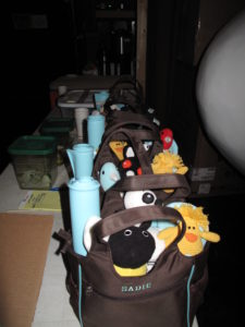 Oprah loves her dogs as much as I love mine and I wanted to share these gifts from my new line at PetSmart.  I gave each of her 5 dogs a monogrammed bed, a monogrammed grooming tote, toys, a feeding mat, and monogrammed bowl.