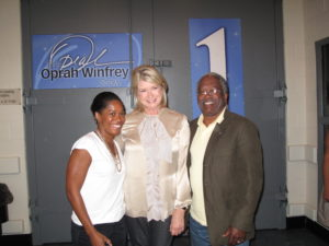 Here I am with Clo Ewing, Senior Associate Producer and her father, Carl Ewing.