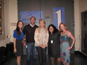 Backstage with the Oprah producers, Erinn McNeill, Brad Opperman, Leslie Grisanti and Tara Montgomery