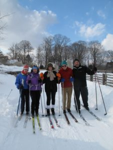 It was a beautiful bright winter day to go cross-country skiing with my friends.