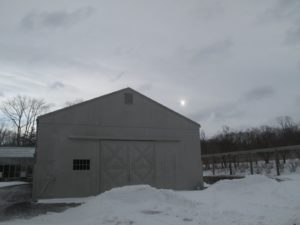 This is the hay barn with the cold house behind it.
