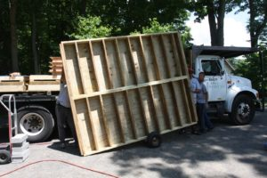 Sheds USA delivered the structure disassembled.