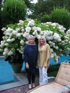 Susan Magrino joined me for the weekend at Lily Pond.  Here we are dressed for the birthday party - I in Lanvin and she in Michael Kors.