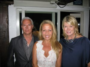 Curator Klaus Biesenbach, Diana Picasso - granddaughter of  of Pablo - and me