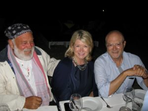 The great photographer, Bruce Weber, me, and the great fashion retailer, Mickey Drexler of J.Crew