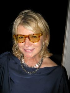 I tried on Mickey's wife, Peggy's, eyeglasses.