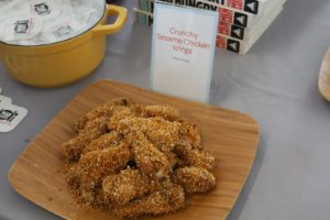 And crunchy sesame chicken wings