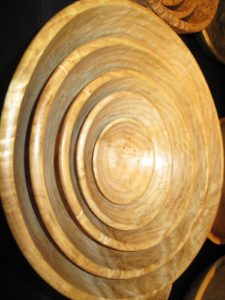 Another set of nesting bowls made of ash