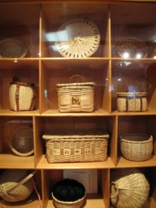 This is a collection of exquisite miniature baskets by Stephen Zeh.