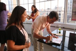 Kevin had many fans who wanted his autograph.  His blog is Home Design with Kevin Sharkey.  http://homedesign.marthastewart.com/