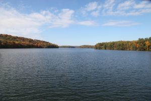 This is the nearby Cross River Reservoir and it has broad, sweeping views.