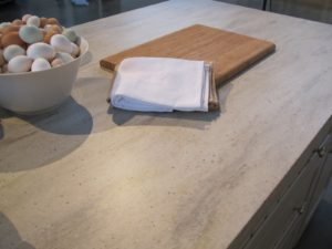 This countertop is Shoreline Corian.  All counter tops are inspired by my love of natural stone.