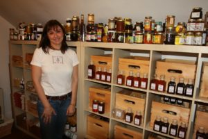 The Red Bee storage room - Marina collects honey from all around the world.