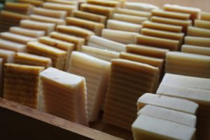 Bars of honey infused soap
