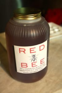 Red Bee supplies fine restaurants, bakeries, and gourmet shops with honey.   This gallon of honey was ordered by a woman who makes excellent granola.