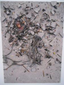 Tom Borgese - 'Aftermath' - plastic toys, concrete, mdf
