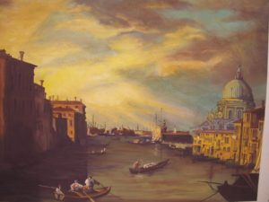 Anduin Havens - 'Reproduction of a Canaletto' - gouache on board