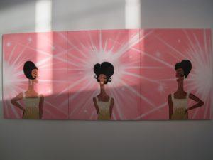 Javier Avila - 'The Supremes' - acrylic on canvas
