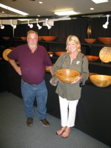 Here I am with David Lancaster of Heirloom Bowls. - http://www.heirloombowls.com/