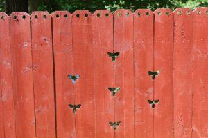 Her driveway gates