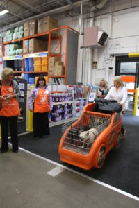 Here I am entering The Home Depot with Francesca and Sharkey - two of my favorite shoppers.
