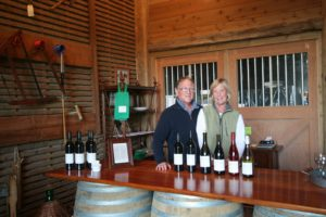 Russ McCall and fiancé Nicola Plimpton oversee the tasting room.