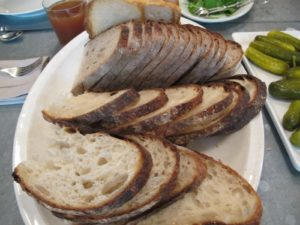 For lunch, we brought up a large boule from Balthazar. http://www.balthazarbakery.com/