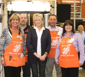 Here I am with Home Depot employees Colleen, Christopher, Steve, and Denise.