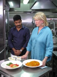 Visvanaath took me into their beautiful kitchen to learn how to make the fish head curry.