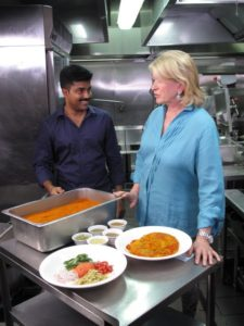 This large chafing pan contains more spices that go into the curry.  The exact mix is a secret.