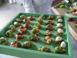 Pierre made colorful and delicious hors d'oeuvres.
