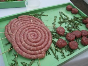 Pierre also made grilled sweet Italian sausage served on mini brioche and grilled mini burgers.