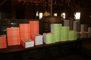 The books were available for sale before my book signing began.