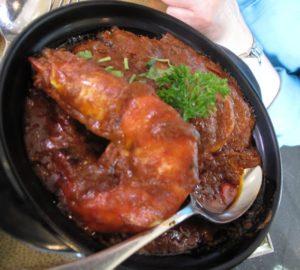 We also had a wonderful prawn curry.