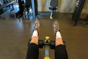 I also do ankle rotation exercises while on this machine.