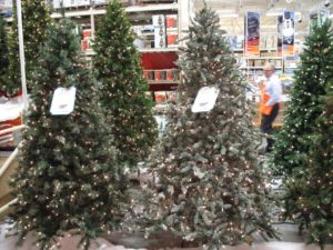 Visit your local Home Depot to view our very beautiful Christmas trees this year.