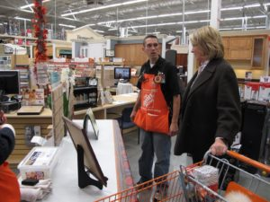 In the flooring department, Tony explained how well our carpet line is selling.