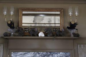 The mantelpiece decor