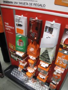 Can't think of the perfect gift?  How about one of these clever Home Depot gift cards?