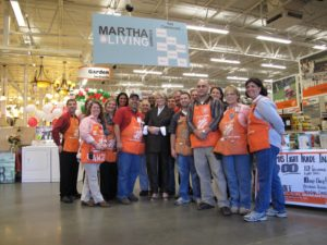 Here I am with the wonderful team from the Hendersonville, TN Home Depot.