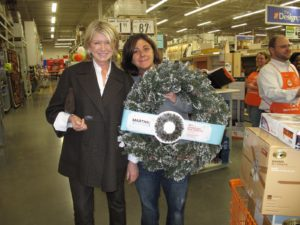 Now in Greer, SC, near historic Greenville, we went to one more Home Depot.  This lady was excited about buying a beautiful Martha Stewart Living wreath.