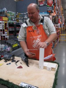 Mike was giving us a demonstration of the latest Dremel tools.
