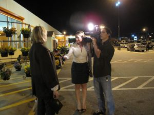 Leaving the store, I was interviewed by Fox 5 Carolina's Jenna Caiazzo.