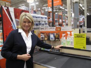 I was happy to see that my Martha Stewart Clean products were displayed at the check out.