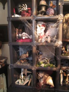 Curio nooks filled with unusual items