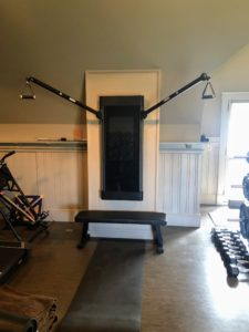 Its resistance cables go up to 200-pounds, and the adjustable arms enable one to get full-body fitness training for the lower and upper body all on one machine.