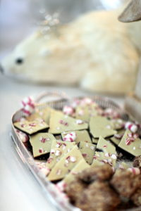 The chocolate-peppermint bark was a real hit.
